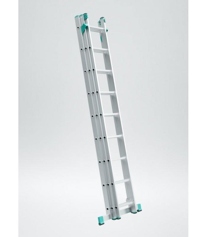 Scara aluminiu 3 tronsoane adaptabila pentru asezarea pe trepte