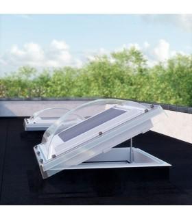 Fereastra de acces pe acoperis terasa FAKRO DRC-C P2, Geam dublu + Cupola policarbonat