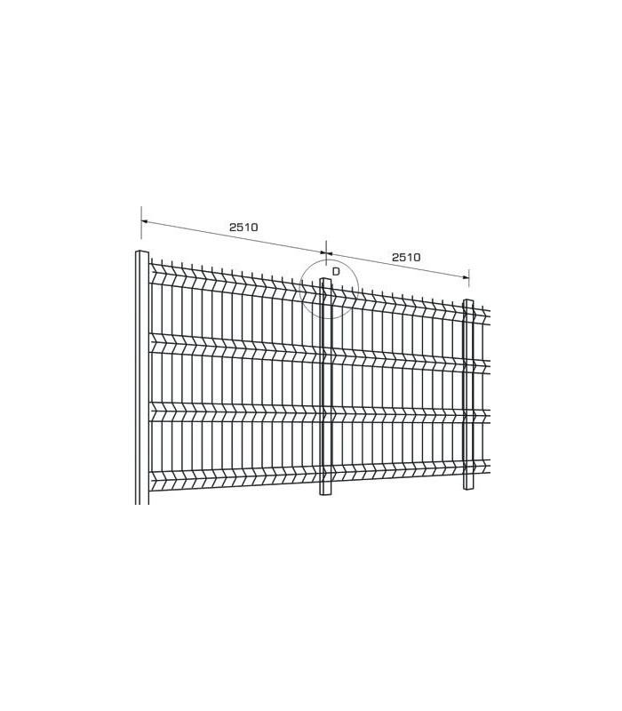 Set de gard ECONOMIC din panou zincat H 200 cm