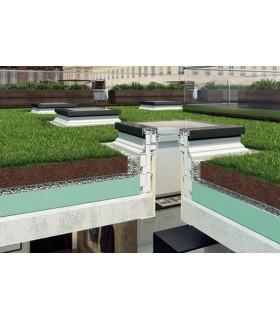 Fereastra de acces pe acoperis terasa FAKRO DRF DU6, Geam triplu plat