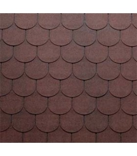 Tegola Top Shingle Traditional Rosu 2 Tonuri