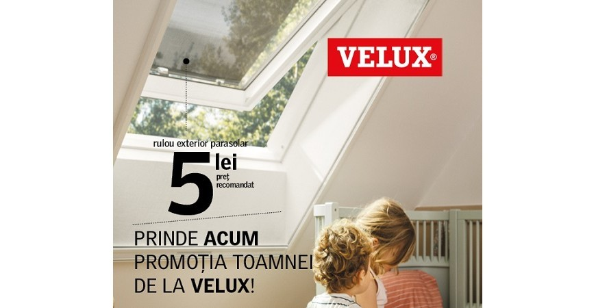 Promotie Velux -  Rulou Exterior Parasolar la 5 Lei!